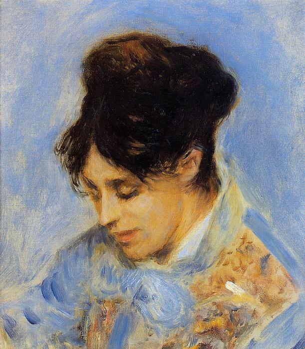 Портрет мадам Клод Моне - 1872. Пьер Огюст Ренуар