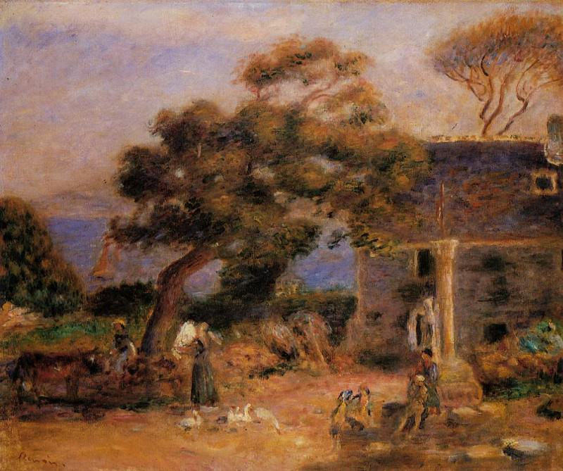 View of Treboul - 1895. Pierre-Auguste Renoir