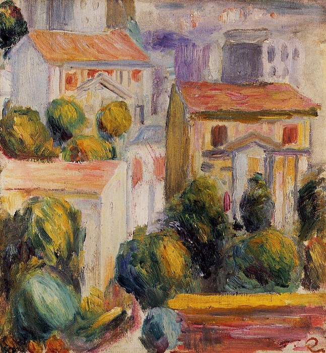 House at Cagnes. Pierre-Auguste Renoir