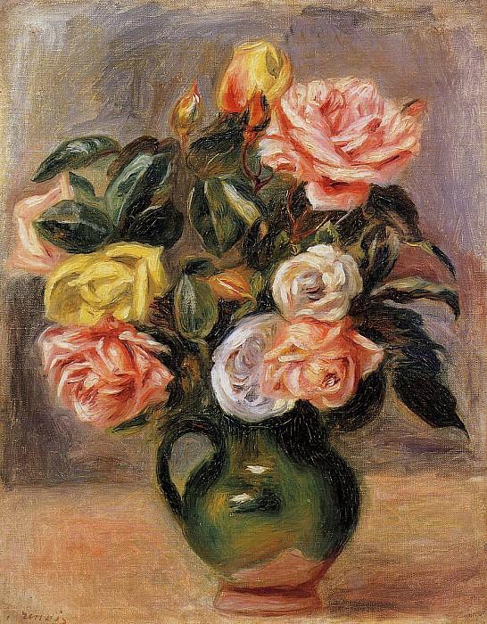 Bouquet of Roses. Pierre-Auguste Renoir