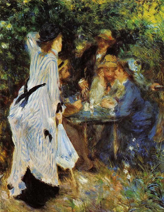 Under the Arbor at the Moulin de la Galette - 1876. Пьер Огюст Ренуар