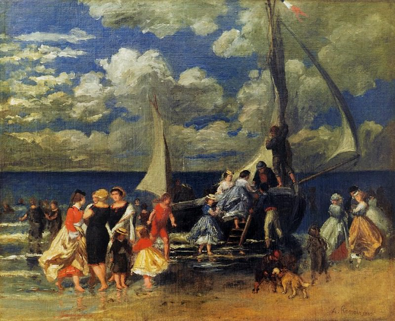 The Return of the Boating Party - 1862. Pierre-Auguste Renoir