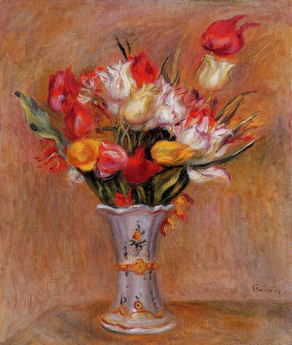 Tulips - 1909. Pierre-Auguste Renoir