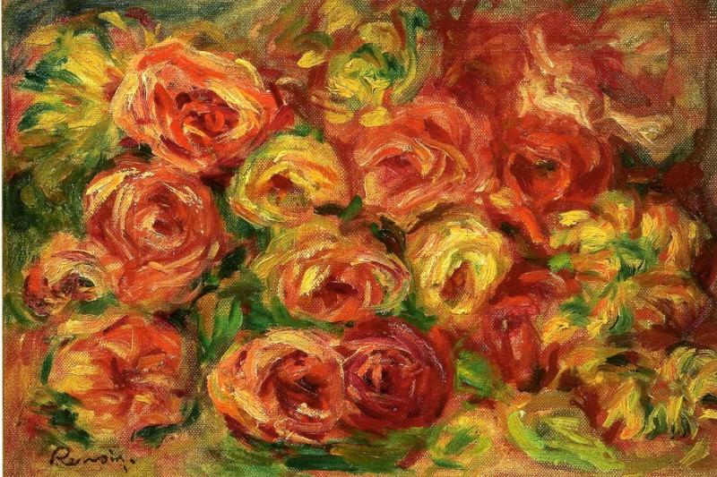 Armful of Roses - 1910. Pierre-Auguste Renoir