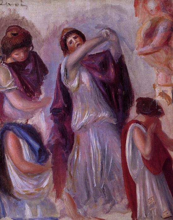 Scene Antique - Femmes aux Peplums - 1895. Pierre-Auguste Renoir