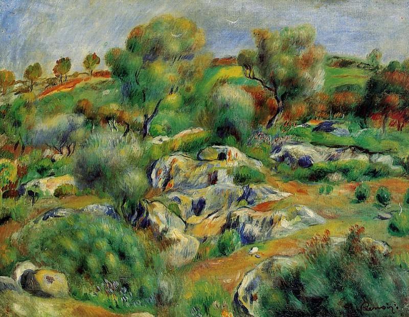 Breton Landscape - 1893. Pierre-Auguste Renoir