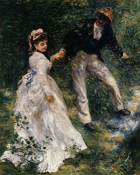 The Promenade - 1870. Пьер Огюст Ренуар