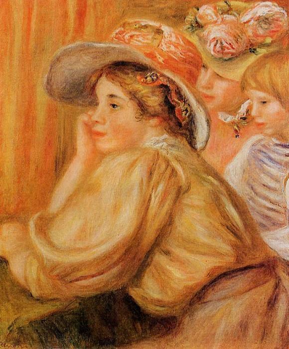 Coco and Two Servants - 1910. Pierre-Auguste Renoir