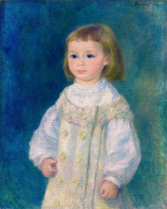 Child in a White Dress (also known as Lucie Berard) - 1883. Пьер Огюст Ренуар