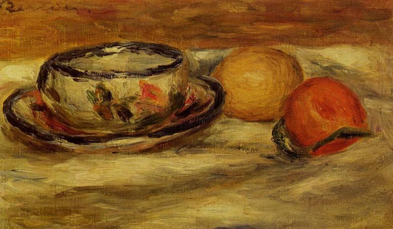 Cup, Lemon and Tomato - 1916. Pierre-Auguste Renoir
