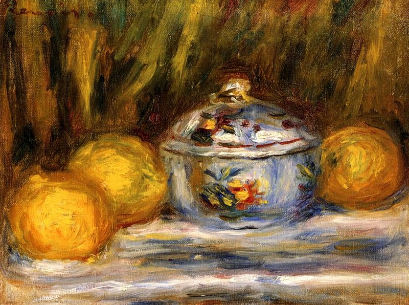 Sugar Bowl and Lemons - 1915. Pierre-Auguste Renoir