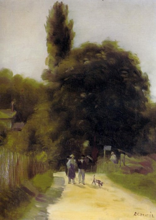 Two Figures in a Landscape - 1865 - 1866. Пьер Огюст Ренуар