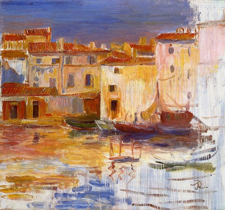 The Port of Martigues - 1888. Пьер Огюст Ренуар
