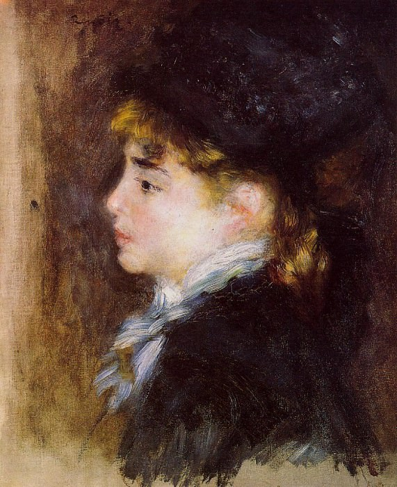 Portrait of Margot (also known as Portrait of a Model) - 1876 - 1877. Pierre-Auguste Renoir