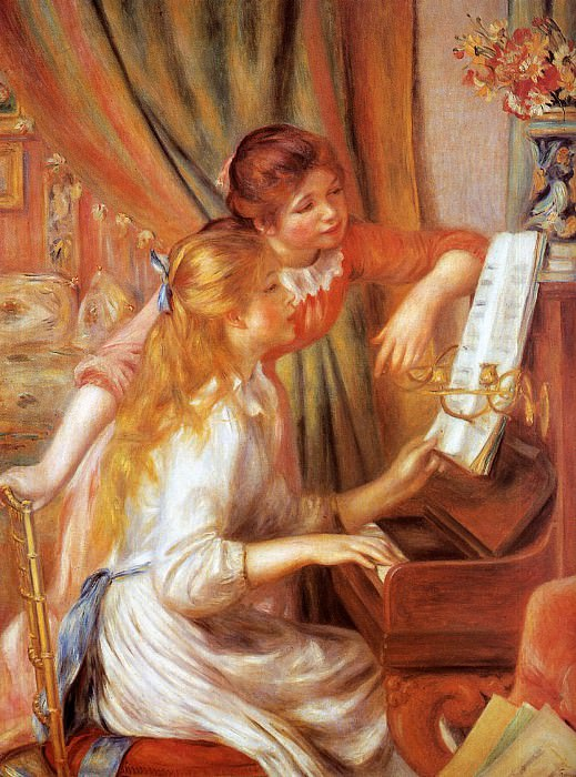 Girls at the Piano - 1892. Пьер Огюст Ренуар