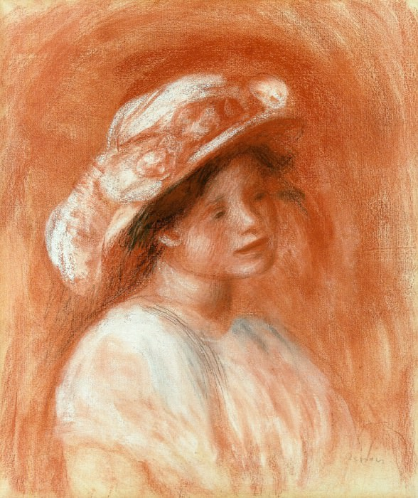 Head of a Girl. Pierre-Auguste Renoir