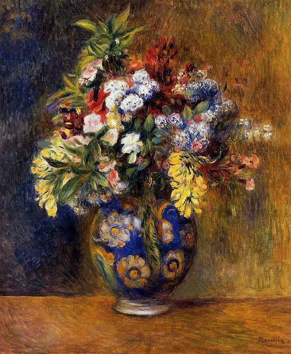 Flowers in a Vase - 1878. Pierre-Auguste Renoir