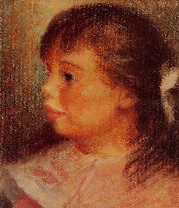 Portrait of a Girl - 1879 - 1880. Pierre-Auguste Renoir