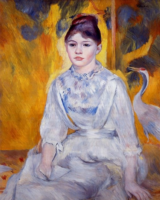 Young Woman with Crane - 1886. Pierre-Auguste Renoir