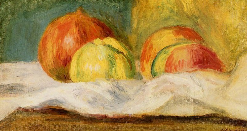 Still Life with Apples and Pomegranates - 1901. Pierre-Auguste Renoir