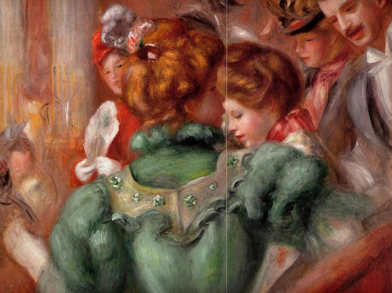 Вставка в театре des Varietes 1898. Pierre-Auguste Renoir