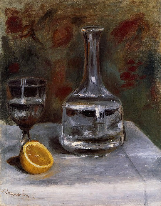 Still Life with Carafe - 1892. Pierre-Auguste Renoir