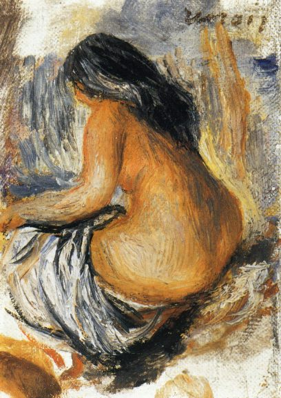 Bather from the Back. Pierre-Auguste Renoir