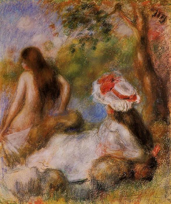 Bathers - 1894. Pierre-Auguste Renoir