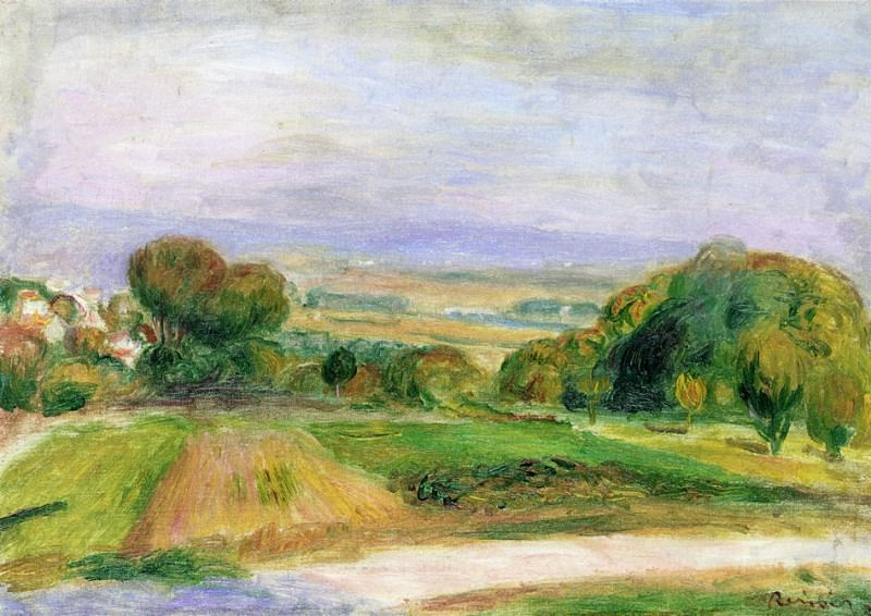 Landscape, Magagnosc. Pierre-Auguste Renoir