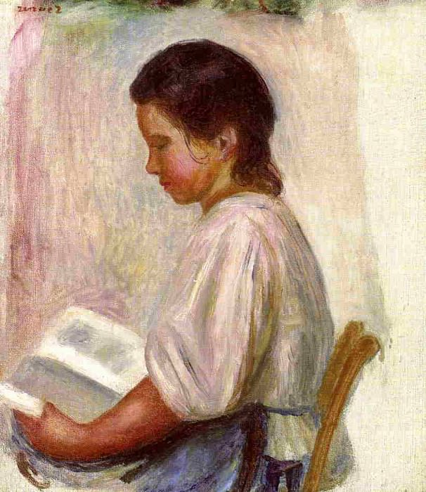 Young Girl Reading - 1904. Pierre-Auguste Renoir