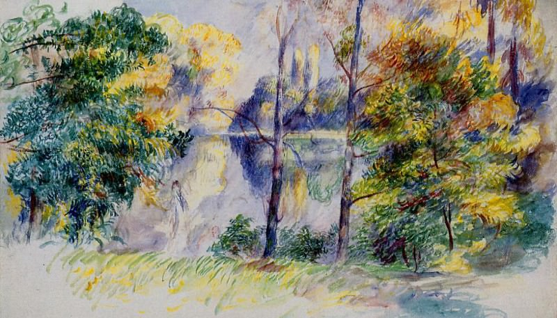 Park Scene. Pierre-Auguste Renoir