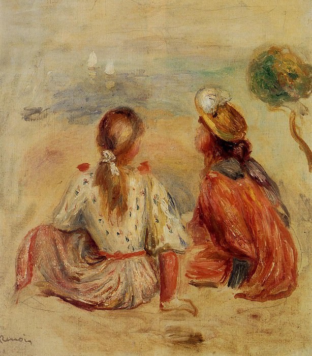 Young Girls on the Beach - 1898. Pierre-Auguste Renoir