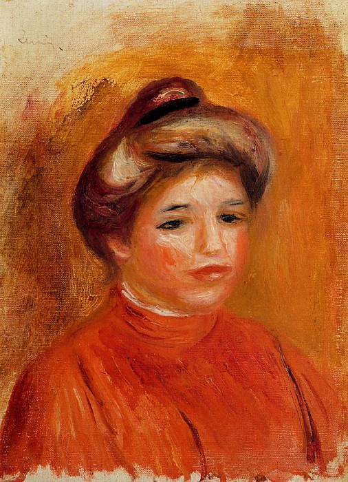 Womans Head - 1905. Pierre-Auguste Renoir
