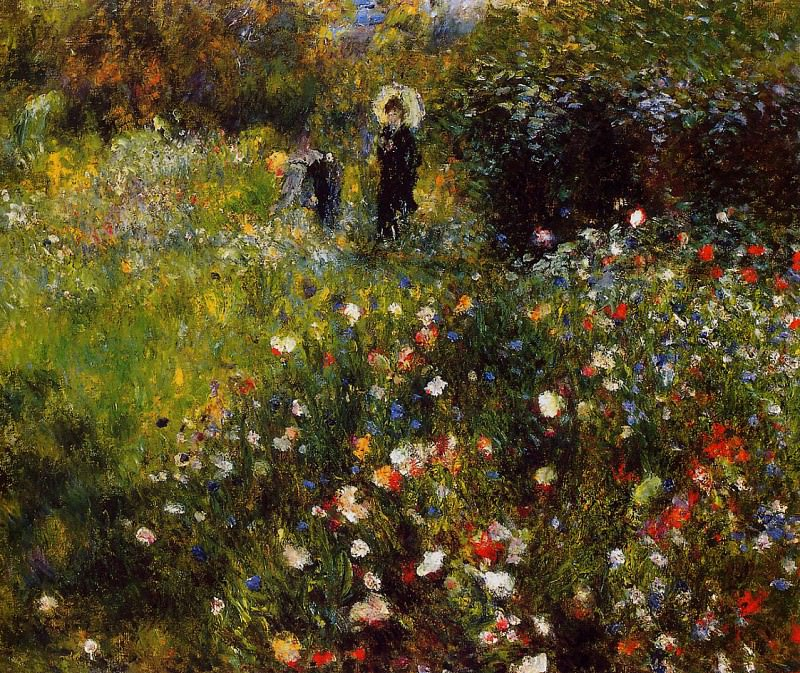 Summer Landscape (also known as Woman with a Parasol in a Garden) - 1873. Pierre-Auguste Renoir
