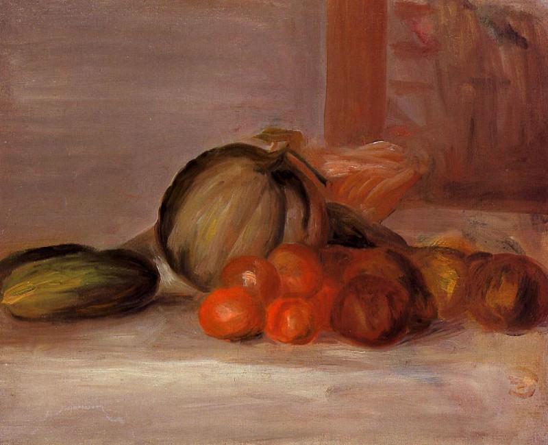Still Life with Melon. Пьер Огюст Ренуар