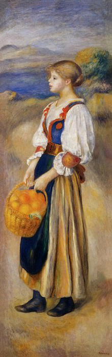 Girl with a Basket of Oranges - 1889. Пьер Огюст Ренуар