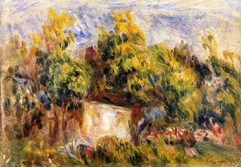 Landscape with Cabin - 1916. Pierre-Auguste Renoir
