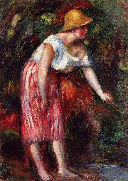 Woman in a Straw Hat. Pierre-Auguste Renoir