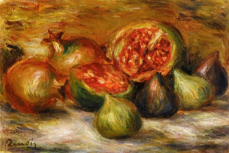 Still Life with Figs. Pierre-Auguste Renoir