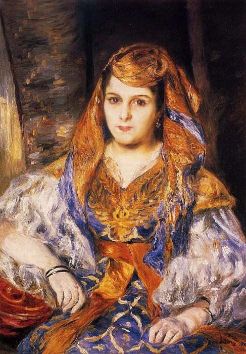 Madame Stora in Algerian Dress - 1870. Пьер Огюст Ренуар