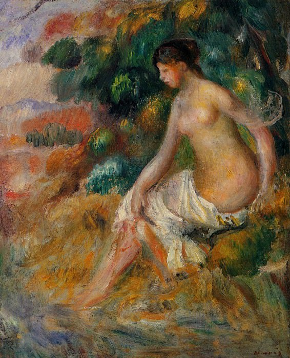 Nude in the Greenery. Pierre-Auguste Renoir