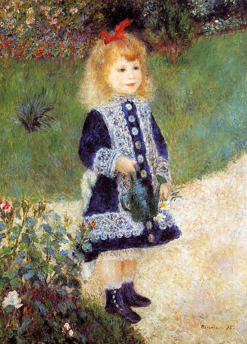 Girl with a Watering Can - 1876. Pierre-Auguste Renoir