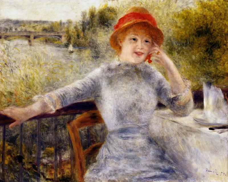 Alphonsine Fournaise on the Isle of Chatou - 1879. Pierre-Auguste Renoir