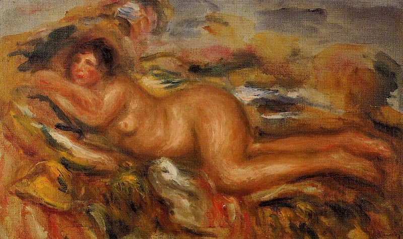 Nude on the Grass - 1915. Pierre-Auguste Renoir