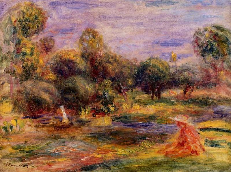 Cagnes Landscape - 1907-1908. Pierre-Auguste Renoir
