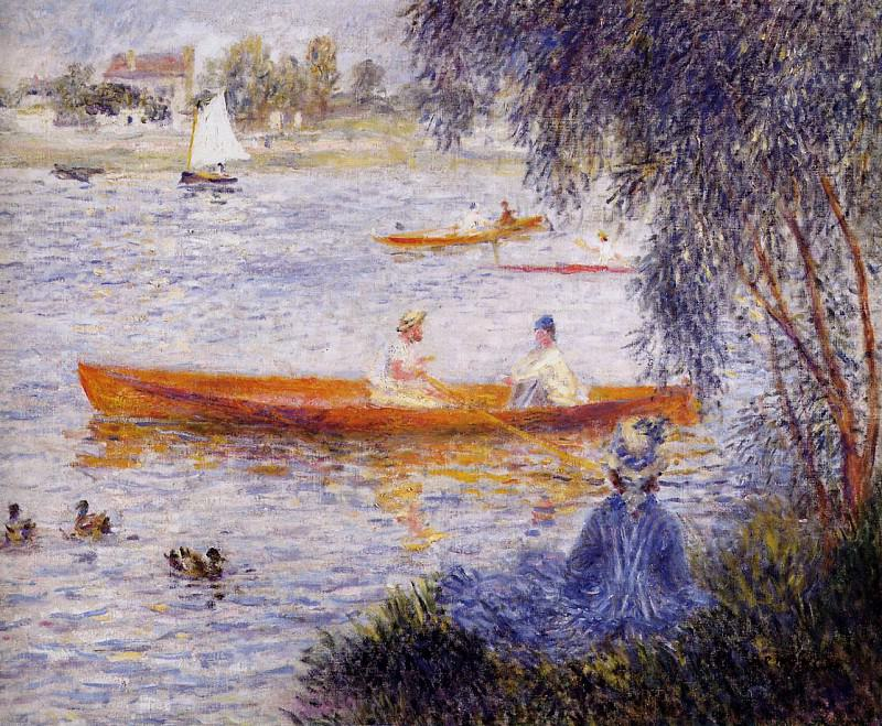 Boating at Argenteuil - 1873. Пьер Огюст Ренуар