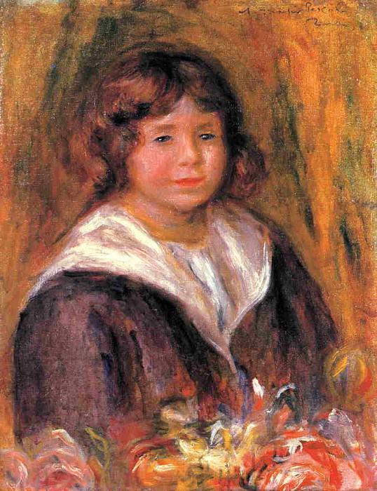 Portrait of a Boy (Jean Pascalis) - 1916. Pierre-Auguste Renoir