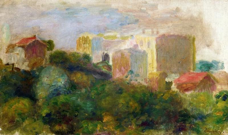 View from Renoirs Garden in Montmartre. Pierre-Auguste Renoir