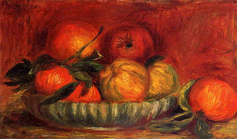 Still Life with Apples and Oranges - 1897. Pierre-Auguste Renoir