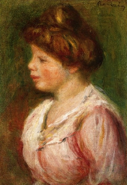 Portrait of a Young Woman. Pierre-Auguste Renoir